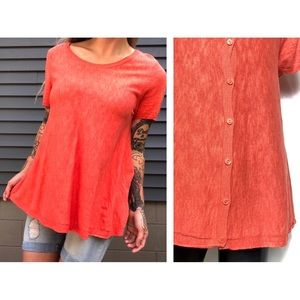 MOTH   Anthropologie Button Back Top